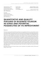prikaz prve stranice dokumenta Quantitative and quality features of business tourism in Istria and potential possibilities of its improvement