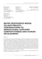 Bayer CropScience model village project: Contributions to agricultural suppliers' competitiveness and human development