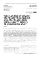 prikaz prve stranice dokumenta THE RELATIONSHIP BETWEEN CORPORATE VOLUNTEERING AND CORPORATE SOCIAL RESPONSIBILITY: RESULTS OF AN EMPIRICAL STUDY