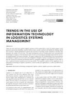 prikaz prve stranice dokumenta TRENDS IN THE USE OF INFORMATION TECHNOLOGY IN LOGISTICS SYSTEMS MANAGEMENT