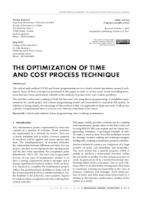 prikaz prve stranice dokumenta THE OPTIMIZATION OF TIME AND COST PROCESS TECHNIQUE