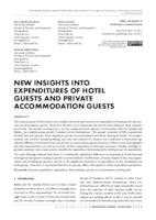 prikaz prve stranice dokumenta NEW INSIGHTS INTO EXPENDITURES OF HOTEL GUESTS AND PRIVATE ACCOMMODATION GUESTS