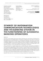 prikaz prve stranice dokumenta SYNERGY OF INFORMATION COMMUNICATION TECHNOLOGIES AND THE BANKING SYSTEM IN THE FUNCTIONING OF SUCCESSFUL BANKING OPERATIONS