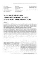 prikaz prve stranice dokumenta RISK ANALYSIS AND EVALUATION FOR CRITICAL LOGISTICAL INFRASTRUCTURE