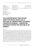 prikaz prve stranice dokumenta THE ASSORTMENT STRUCTURE AND THE PRICE LEVELS AS A FACTOR OF MARKETING CHANNEL COMPETITIVENESS–EMPIRICAL EVIDENCE FROM THE REPUBLIC OF SERBIA