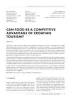 prikaz prve stranice dokumenta CAN FOOD BE A COMPETITIVE ADVANTAGE OF CROATIAN TOURISM?