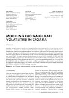 prikaz prve stranice dokumenta MODELING EXCHANGE RATE VOLATILITIES IN CROATIA