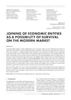 prikaz prve stranice dokumenta JOINING OF ECONOMIC ENTITIES AS A POSSIBILITY OF SURVIVAL ON THE MODERN MARKET