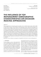 prikaz prve stranice dokumenta THE INFLUENCE OF TOP MANAGEMENT DEMOGRAPHIC CHARACTERISTICS ON DECISION MAKING APPROACHES