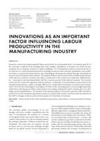 INNOVATIONS AS AN IMPORTANT FACTOR INFLUENCING LABOUR PRODUCTIVITY IN THE MANUFACTURING INDUSTRY