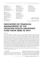 prikaz prve stranice dokumenta INDICATORS OF FINANCIAL MANAGEMENT OF THE CROATIAN HEALTH INSURANCE FUND FROM 2000 TO 2014
