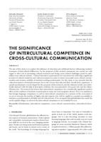 prikaz prve stranice dokumenta THE SIGNIFICANCE OF INTERCULTURAL COMPETENCE IN CROSS-CULTURAL COMMUNICATION