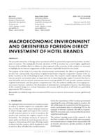 prikaz prve stranice dokumenta MACROECONOMIC ENVIRONMENT AND GREENFIELD FOREIGN DIRECT INVESTMENT OF HOTEL BRANDS