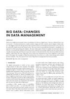 prikaz prve stranice dokumenta BIG DATA: CHANGES IN DATA MANAGEMENT