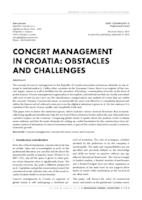 prikaz prve stranice dokumenta CONCERT MANAGEMENT IN CROATIA: OBSTACLES AND CHALLENGES