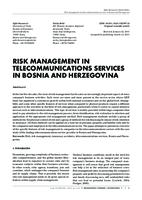 prikaz prve stranice dokumenta RISK MANAGEMENT IN TELECOMMUNICATIONS SERVICES IN BOSNIA AND HERZEGOVINA