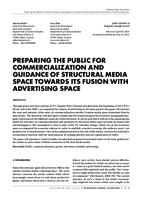 prikaz prve stranice dokumenta PREPARING THE PUBLIC FOR COMMERCIALIZATION AND GUIDANCE OF STRUCTURAL MEDIA SPACE TOWARDS ITS FUSION WITH ADVERTISING SPACE