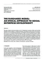 prikaz prve stranice dokumenta THE FAIRSHARES MODEL: AN ETHICAL APPROACH TO SOCIAL ENTERPRISE DEVELOPMENT?