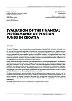 EVALUATION OF THE FINANCIAL PERFORMANCE OF PENSION FUNDS IN CROATIA