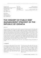 prikaz prve stranice dokumenta THE CONCEPT OF PUBLIC DEBT MANAGEMENT STRATEGY OF THE REPUBLIC OF CROATIA
