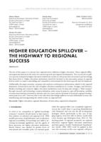 prikaz prve stranice dokumenta HIGHER EDUCATION SPILLOVER – THE HIGHWAY TO REGIONAL SUCCESS