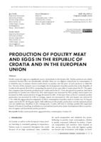 prikaz prve stranice dokumenta PRODUCTION OF POULTRY MEAT AND EGGS IN THE REPUBLIC OF CROATIA AND IN THE EUROPEAN UNION