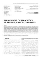 prikaz prve stranice dokumenta AN ANALYSIS OF TEAMWORK IN THE INSURANCE COMPANIES