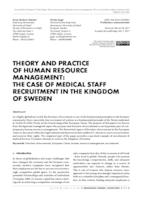 Poveznica na dokument THEORY AND PRACTICE OF HUMAN RESOURCE MANAGEMENT: THE CASE OF MEDICAL STAFF RECRUITMENT IN THE KINGDOM OF SWEDEN