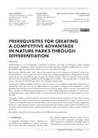 prikaz prve stranice dokumenta PREREQUISITES FOR CREATING A COMPETITIVE ADVANTAGE IN NATURE PARKS THROUGH DIFFERENTIATION