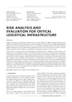 prikaz prve stranice dokumenta RISK ANALYSIS AND EVALUATION FOR CRITICAL LOGISTICAL INFRASTRUCTURE