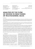 prikaz prve stranice dokumenta ANALYSIS OF THE FLOW OF GOODS IN NEW FORMS OF MULTICHANNEL SALES