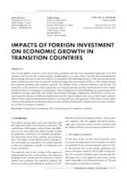 prikaz prve stranice dokumenta IMPACTS OF FOREIGN INVESTMENT ON ECONOMIC GROWTH IN TRANSITION COUNTRIES