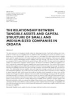 prikaz prve stranice dokumenta THE RELATIONSHIP BETWEEN TANGIBLE ASSETS AND CAPITAL STRUCTURE OF SMALL AND MEDIUM-SIZED COMPANIES IN CROATIA