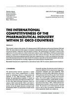 prikaz prve stranice dokumenta THE INTERNATIONAL COMPETITIVENESS OF THE PHARMACEUTICAL INDUSTRY WITHIN 21 OECD COUNTRIES