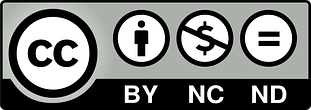 Licence Attribution-NonCommercial-NoDerivatives 4.0 International (CC BY-NC-ND 4.0) icon